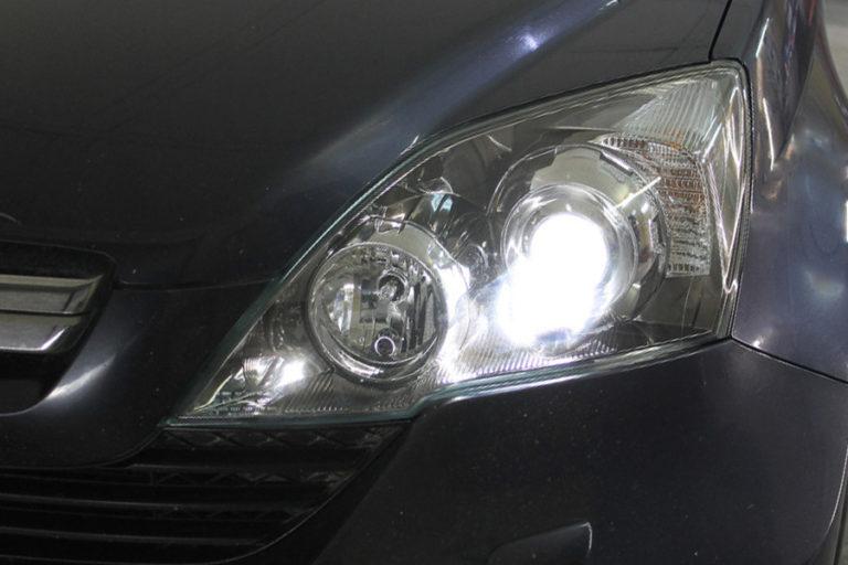 Honda CRV 3. Установка линз Hella 3R в замен штатных.